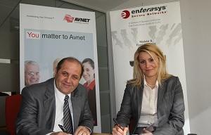 Jamal Qaffaf of Avnet with Asli Aktas of Enterasys-1