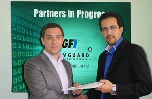 John Spoor of GFI with Mohammad Mobasseri of ComGuard (L to R)