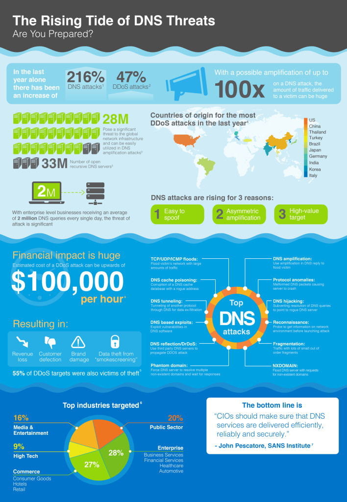 Infographic: The increasing tide of DNS cyber attacks