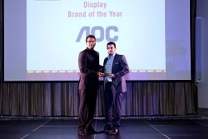 Sameh Gamal from AOC receiving the award