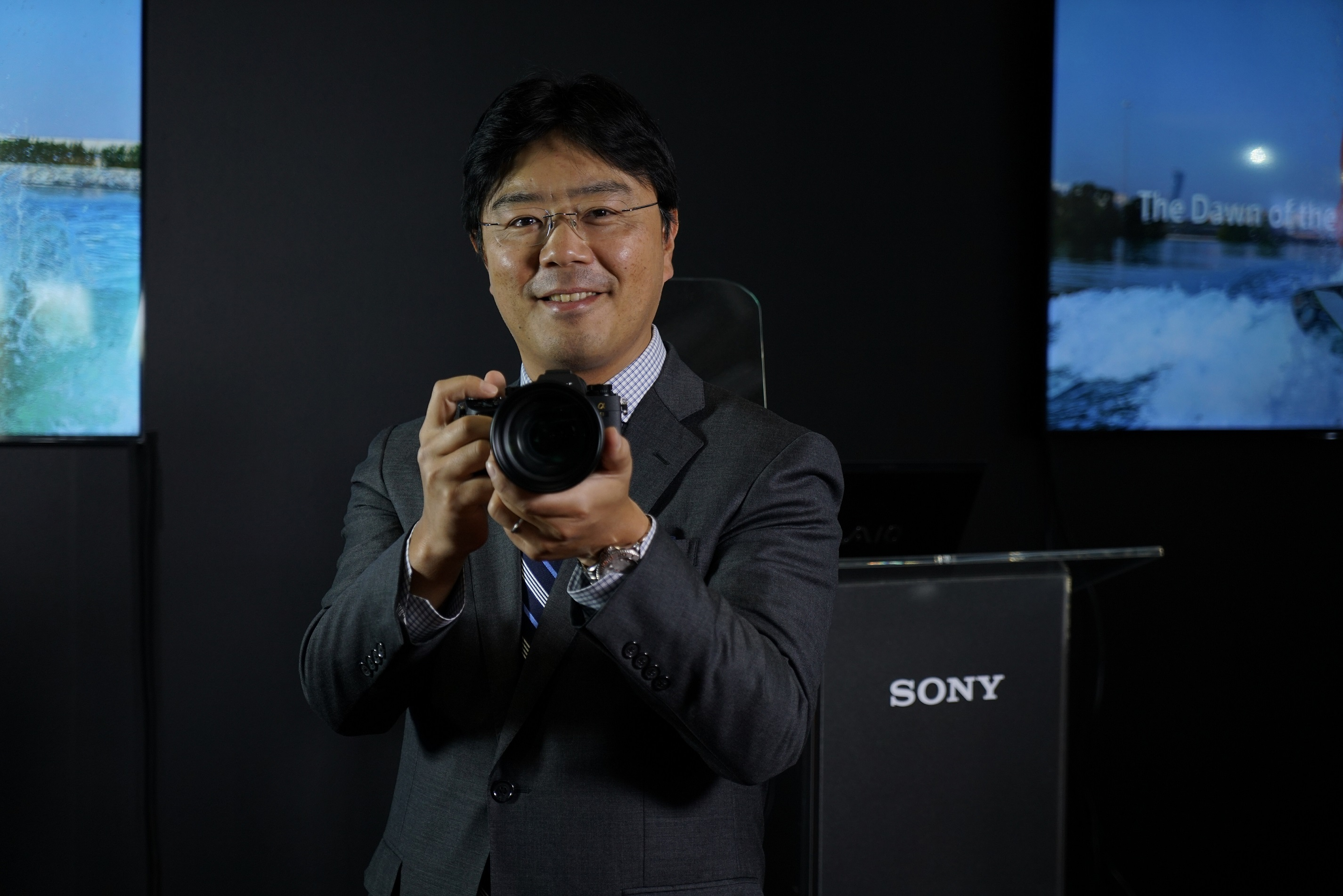 Taro Kimura, Managing Director, Sony Middle East & Africa, during the UAE launch of Sony A9 digital camera
