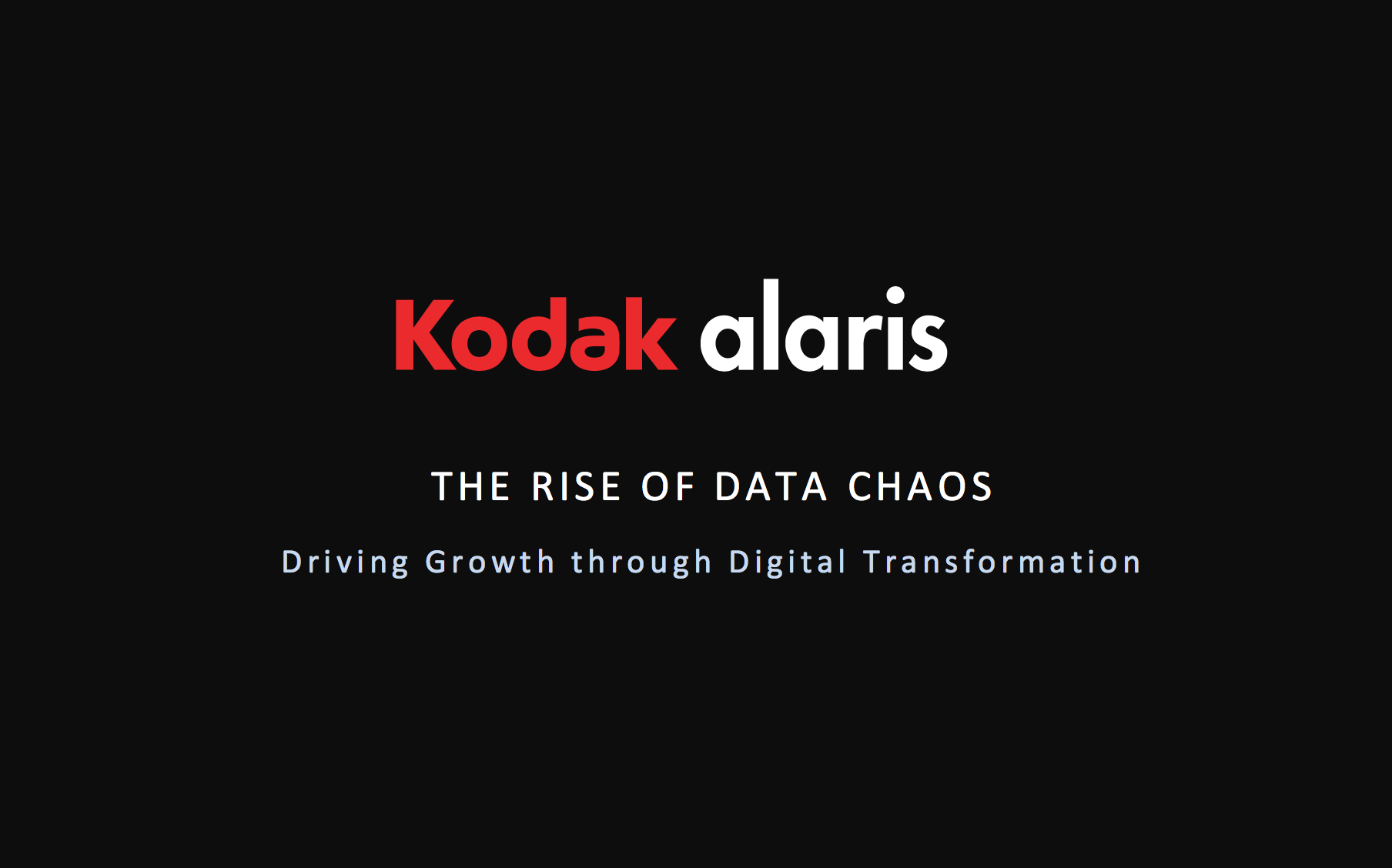 Whitepaper: The Rise of Data Chaos
