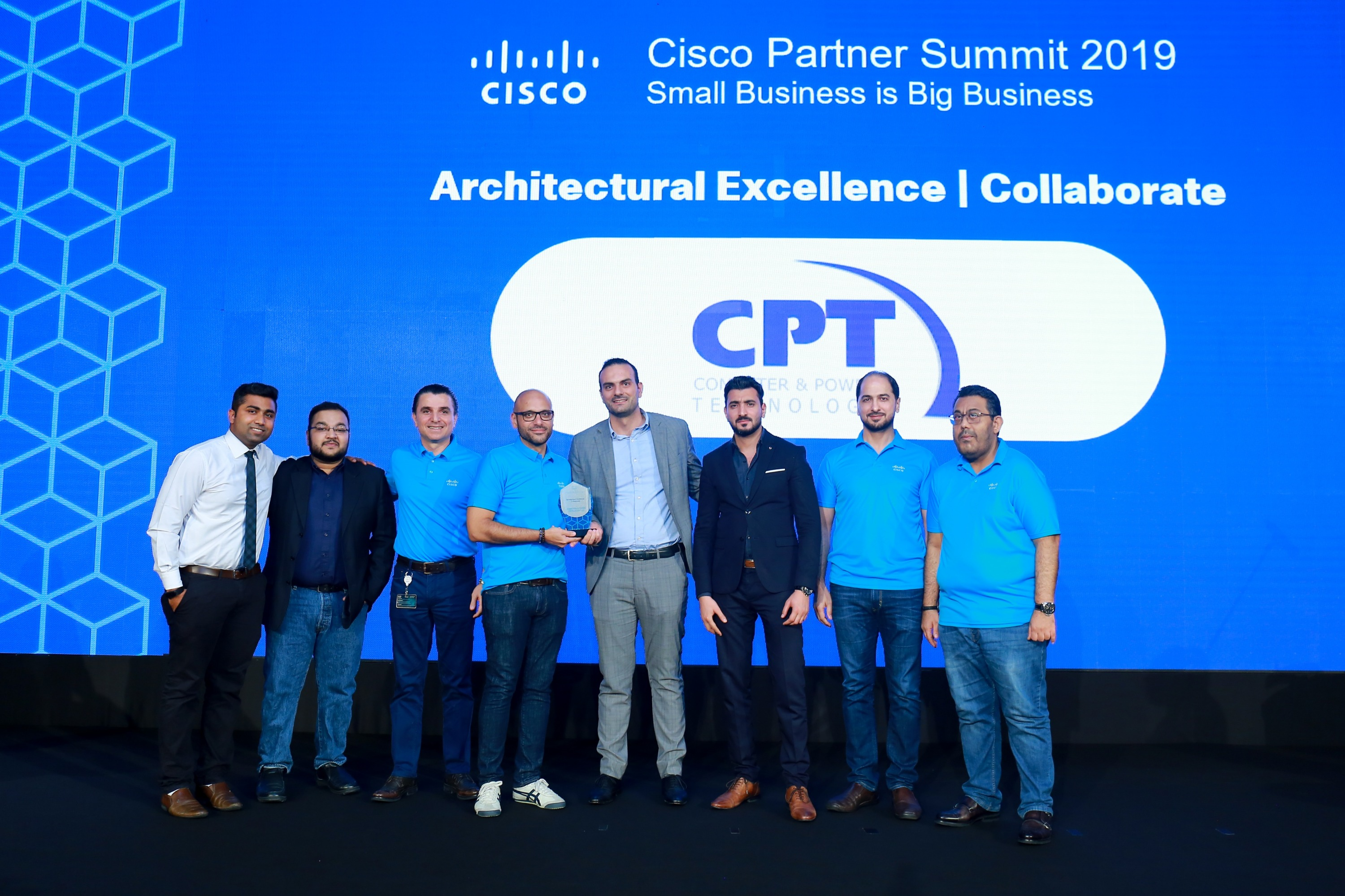 Computer & Power Technology awarded 'Cisco Architectural Award – Collaborate' at Cisco Partner Summit 2019