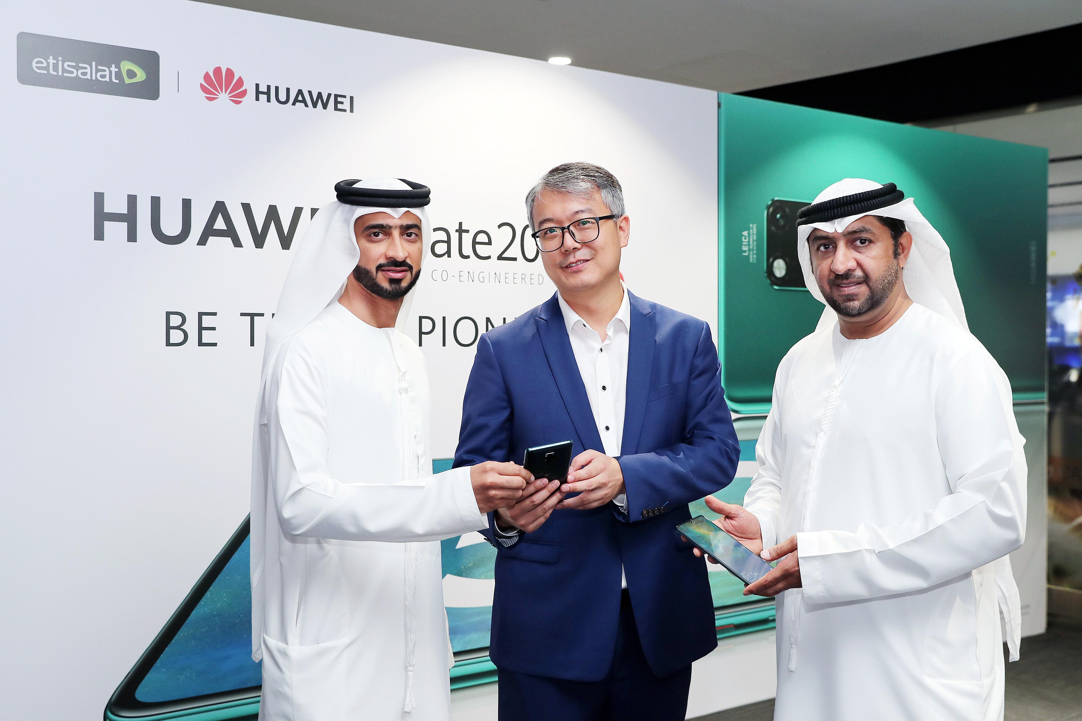 Etisalat and Huawei unveil HUAWEI Mate 20 X (5G)