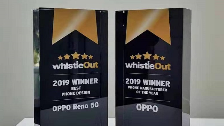 OPPO wins Best Phone Manufacturer and Phone Design at 2019 WhistleOut awards