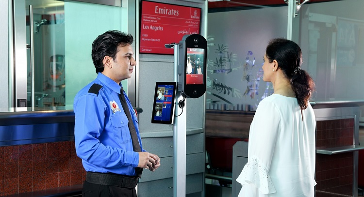Emirates biometric boarding