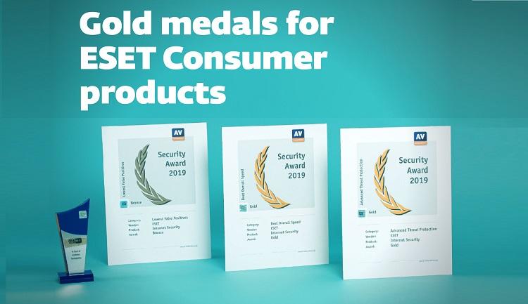 AV-Comparatives recognizes three ESET products